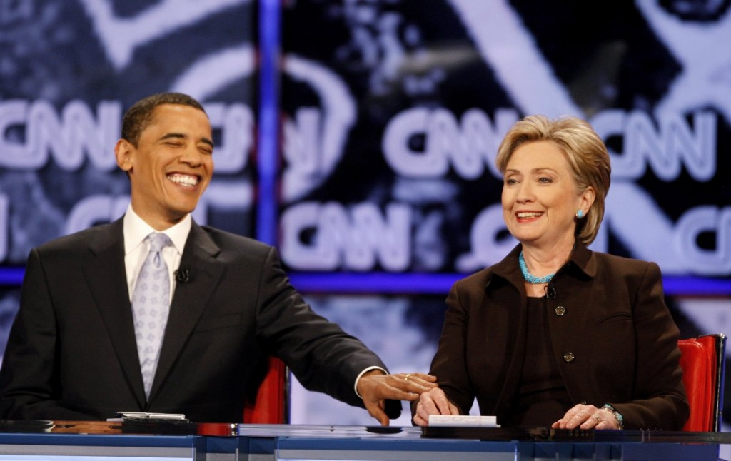 barack-obama-and-hillary-clinton-laugh-near-the-end-of-the-cnnlos-angeles-times-democratic-presidential-debate-in-hollywood-california